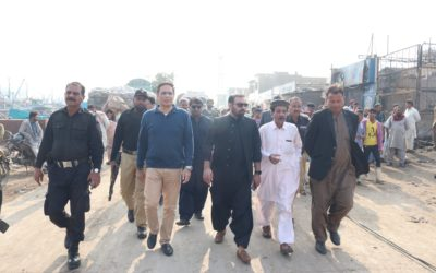 Chairman Fishermen's Cooperative Society, Abdul Berr visited the Blackwater area