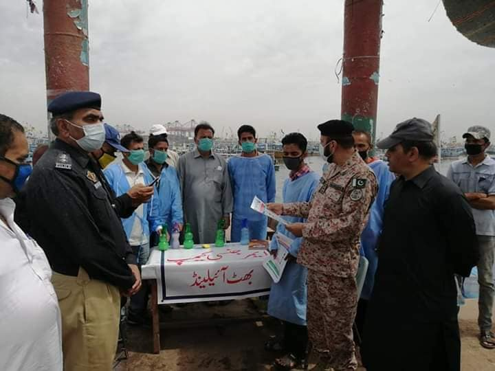 Pak Rangers and police officers visited the emergency camp