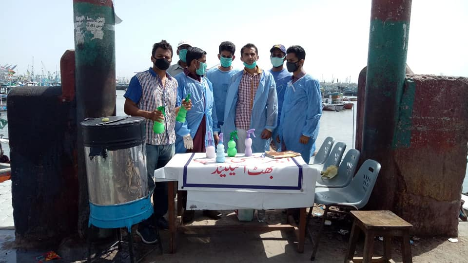 Fishermen's Cooperative Society continues to conduct hand sanitization and screening on Baba Bhatt Island.